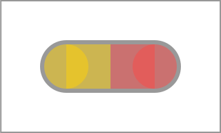 Unexpected rendering of a pill at half opacity