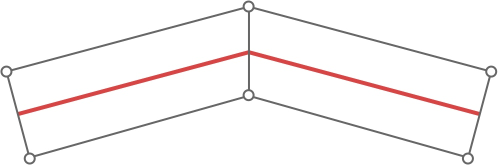 Correct segments have their vertices connected