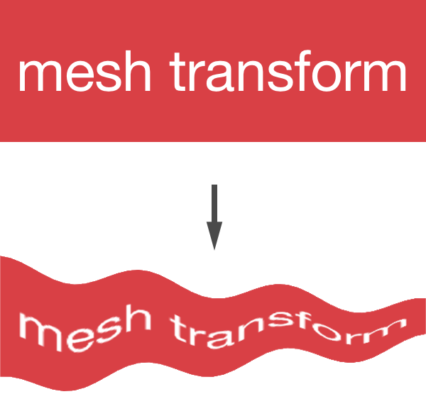 Mesh-transformed UILabel